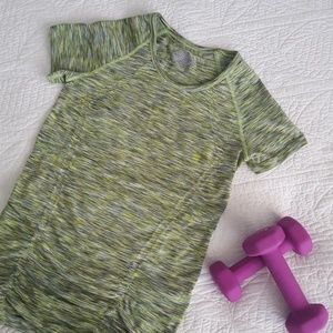 Athleta Fastest Track Spacedye Tee Top XS